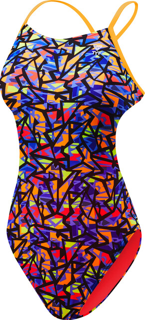 TYR W's Costa Mesa Cutouttfit Swimsuit Durafast One Orange/Purple